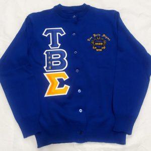 Tau Beta Sigma Blue Cardigan