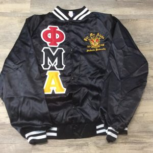 Phi Mu Alpha Black Satin Jacket