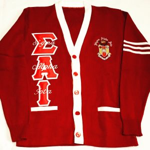 Sigma Alpha Iota Varsity Sweater Cardigan Writing on Letters