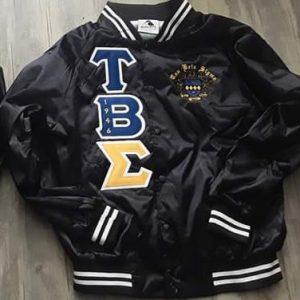 Tau Beta Sigma Black Satin B/W Trim