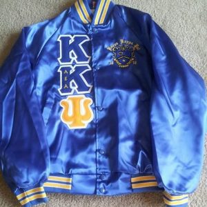 Kappa Kappa Psi Blue Satin Jacket Custom G/B Trim