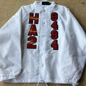 House Arrest 2 White Jacket Writing on letters
