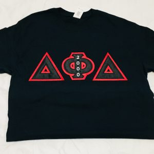 Delta Phi Delta Black T-shirt Blk/Red Letter