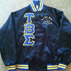 Tau Beta Sigma Blk Satin Jacket B/G Trim