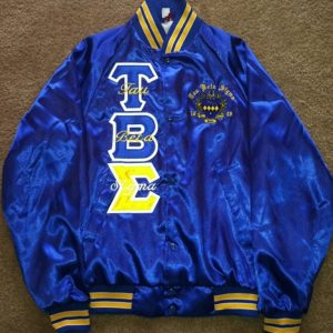 Tau Beta Sigma Blue Satin Jacket B/G Trim