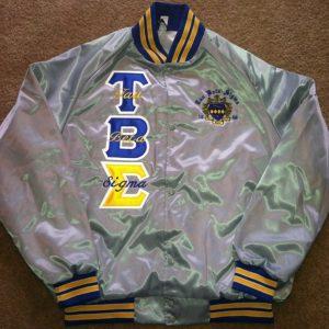 Tau Beta Sigma Grey Satin Jacket B/G Trim